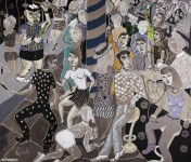 8.CERVERA 2011-NIGHT CLUBBING IN BEIJING-180x210cm