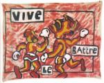 1982  VIVE LE BATTRE  110x140 cm  acrylique sur drap
