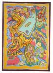 1985 LE BORDEL COSMIQUE  130x180 cm   acrylique sur toile de jute