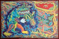 1987 LES MONSTRES  190x260 cm  acrylique sur toile de jute