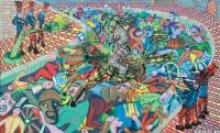 1989 LES DESASTRES DE LA GUERRE  93x150 cm  acrylique sur toile de lin