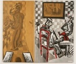 PARTIES DE CARTES  1996  180x210 cm