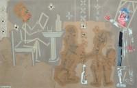 2000  MANIERES DE PARLER  130x195cm  acrylique et technique mixte sur toile