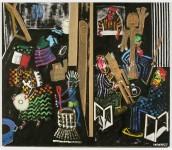 2001  Mr PAUL  180x210cm  acrylique et TM sur toile de lin