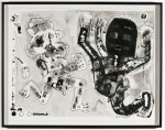 2003  EN ATTENDANT LE SERRURIER  120x158 cm  acrylique sur Velin d'Arches