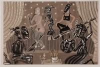 2005  CONVERSATION DE PEINTRES  130x190cm  acrylique et technique mixte sur toile de lin