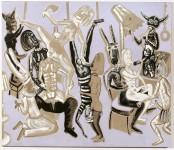 2005  NAISSANCE D'UNE NATION  180x210cm  acrylique sur toile de lin