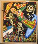 SURFIN' MEDITERRANEE  1993  92x73cm  acrylique sur kraft marouflé