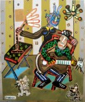 SANS TITRE  1999  146x114cm  acrylique et technique mixte sur toile