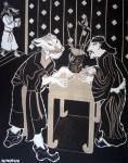 2006  BUSINESS STORY  146x114cm  130x195cm  acrylique sur toile de lin