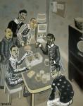 2007  CONCOURS DE CRIQUETS  146x114cm  acrylique sur toile de lin
