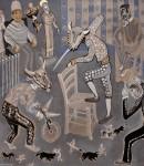 2010  ARENE SANGLANTE  210x180cm  acrylique et technique mixte sur toile de lin