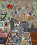 2011  C'EST ARRIVE PRES DE CHEZ MOI  146x114cm  acrylique et technique mixte sur toile de lin