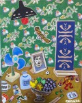 2011  TRIBUTE TO YA RI  92x73cm  acrylique et technique mixte sur toile de lin
