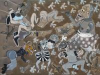 2013_LES VOYEURS  150x200cm  acrylique et technique mixte sur toile de lin