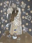 2016  GOLIATH ET LES FANTOMES DE DAVID  200x150cm  acrylique sur toile de lin