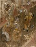 2017  RUE DES JOYEUX FOUS, LES ARMOIRES  146 cm x 114 cm  arylique et technique mixte sur toile de lin